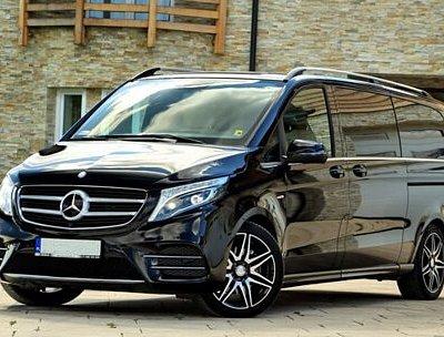 Noleggio minivan con autista Vicenza. Mercedes classe V o Viano.