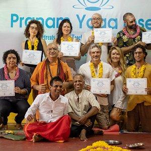 200 Hr Yoga Teacher Training Course Graduation ceremony -  February 2020