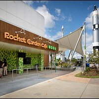 Dine outdoors with a view of spaceflight history. Breakfast and lunch served daily.