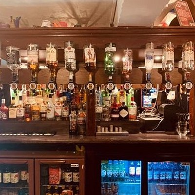 We have bottled beers and ciders, many gins, whiskeys, vodkas and rums; red, white and rose wine and several different strengths of shots.