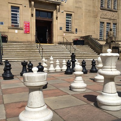 Outdoor Chess at Huddersfield Library