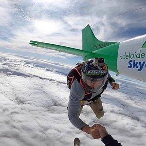 Regular Skydivers Rhys and Frazer
