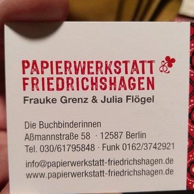 Papierwerkstatt Friedrichshagen