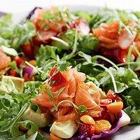 Colorful Salad with Smoked Salmon