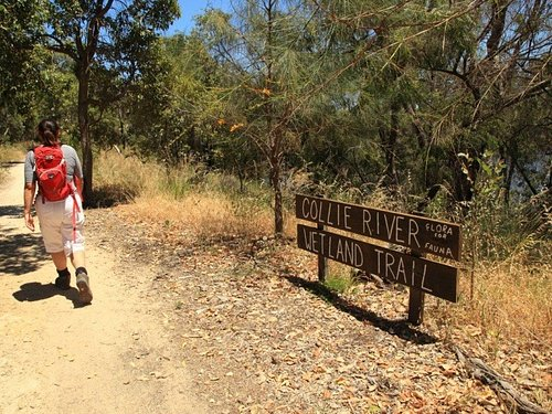 Collie River Wetland Trail entrance sign