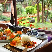 Enjoy authentic Thai food with our beautiful garden