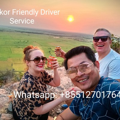 Trip in January 20, Sunset at Phnom Krom