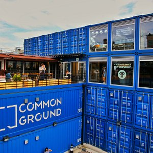 Common Ground is a unique mall made by truck container. The idea very smart and absolutely well design. you can enjoy the small mall with cloth, bag, souvenir, and also some delicious restaurant on top floor. Mostly teenager come here also for take fotos as this place is very instagramable.  Very recommended.