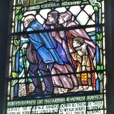 9.  Mary Stanford Lifeboat Disaster Memorial Window, St Thomas the Martyr Church, Winchelsea, East Sussex