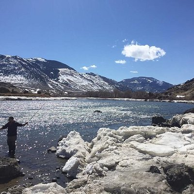 Spring fishing on the Yellowstone River.