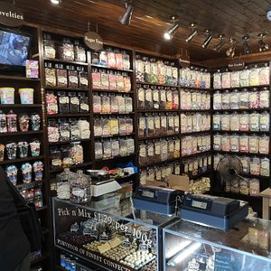 Huge selection of traditional sweets available.