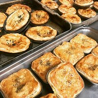 LUNCH??? Home made gourmet pies . Free range chicken ones. Free range pork ones. Veggie ones. All very yummy ones.