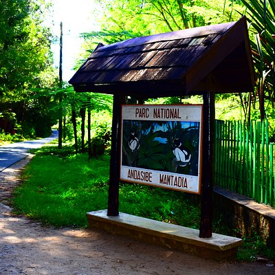 The main entrance of the national park.