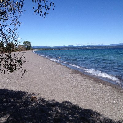 Lake Taupo out of town