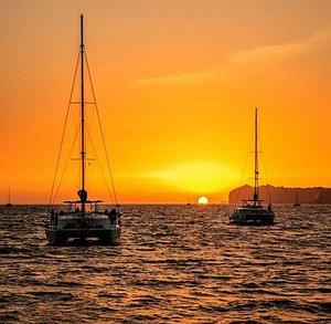 Magic sunset sailing