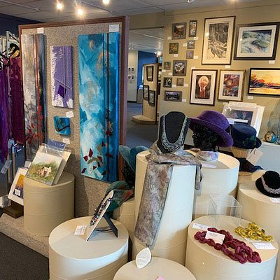 From pastel, oil, watercolor, and acrylic paintings, to photography, to wearable fiber art, to ceramic, glass, and woodworking items, we have it all!