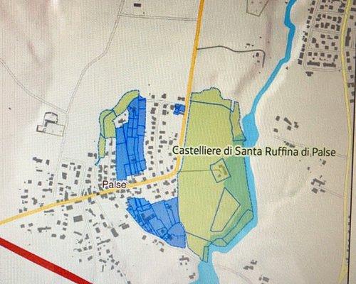 Cartografia prodotta dal Min. Beni Culturali ( la zona blu è quella d'interesse ) .