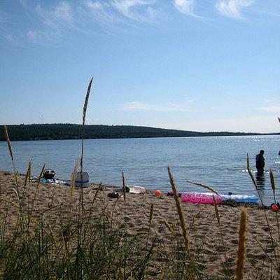Swimming at Livo Beach