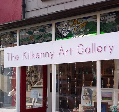 temporary gallery signage