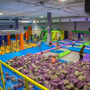 Great indoor Trampoline park for all ages to enjoy