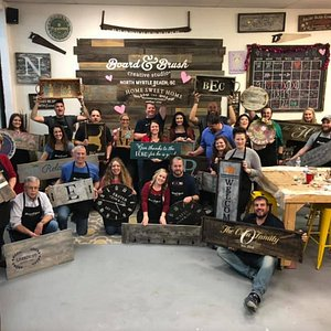 It is always a fun night at Board and Brush! We love that everyone can choose what project they want to make!