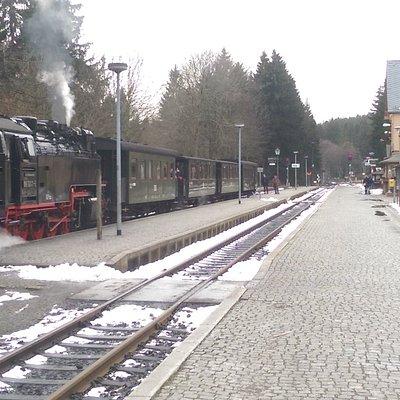 der Bahnhof der Harzer Schmalspurbahn