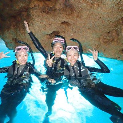 沖繩潛水 青洞浮潛 藍洞 青之洞窟