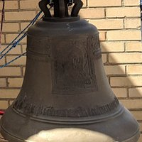 Close up of thew largest bell at Saint Nicholas Church.