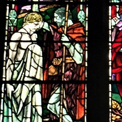 13.  The Douglas Strachan Stained Glass Windows, the Church of St Thomas the Martyr, Winchelsea, East Sussex;  the St Nicholas Chapel Window;  the Baptism of Christ