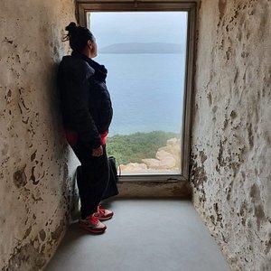 panorama da una delle finstre del fortino