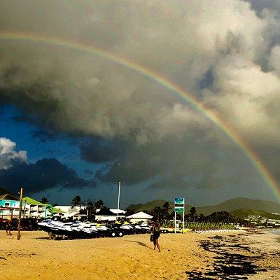 Rainbow over Orient Beach, St. Martin