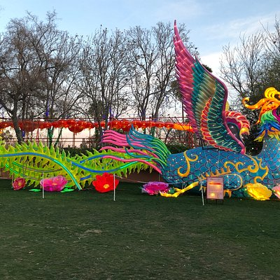 A fantasy display in the park area