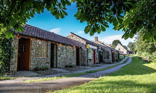 Ryedale Folk Museum in the summer sunshine.