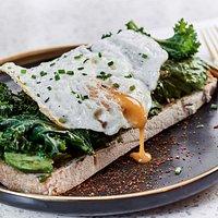 Avocado Toast, Kale & Egg