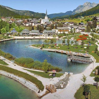 St. Martin am Tennengebirge mit Badesee
