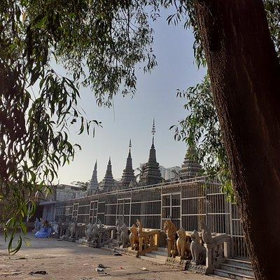 D'autres stupas mis en cage
