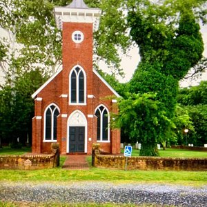 Historic church near James Madison birthplace and fortunately not burnt down during Civil War