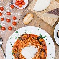 Spaguetti con Salsa marinera