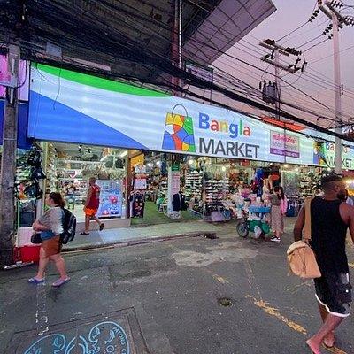 Enter off Bangla Road, airconditioned shop