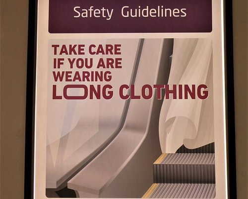 beware of long clothing