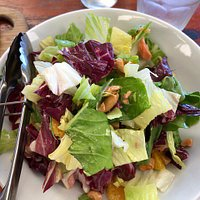 Smoked Trout Salad with Radicchio, Cos Lettuce, Orange, Almonds and Dill