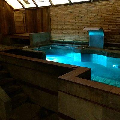 sauna pool and showers