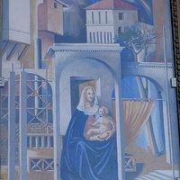 Fresco by Alessandro Tumè: La città di Tommaso. Centro Storico, San Giovanni Valdarno