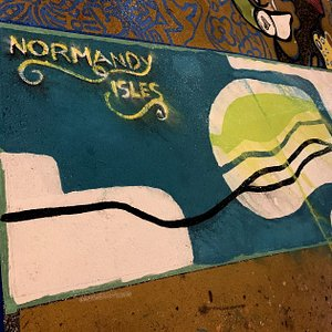 Paintings on the floor of the Normandy square