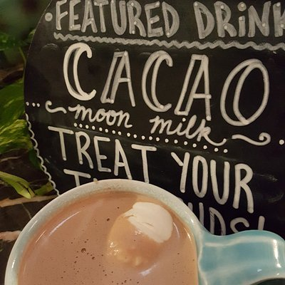 the most perfect hot chocolate drink I ever had -- hand crafted