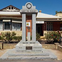 The memorial outside the RSL