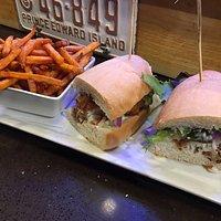 Big Cod Crunch Sandwich with Sweet Fries