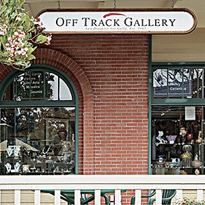 Local artist show their work at the Off Track Gallery in the Lumberyard Shopping Center, Encinitas