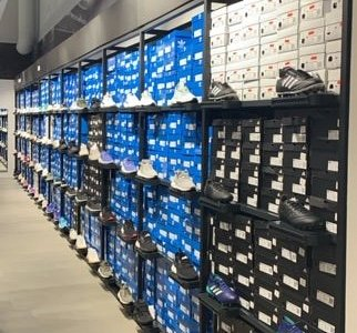Good selection of shoes.