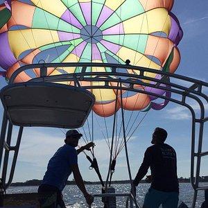 Hilton Head Parasailing with Island Head Fun for the whole family located at Hilton Head Harbor